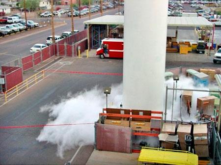 Photo: Liquid Nitrogen Leak