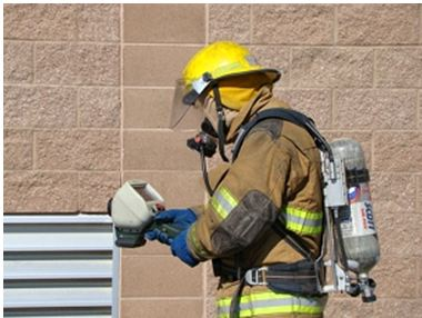 Photo of Fire Fighter with Thermal Imaging Camera